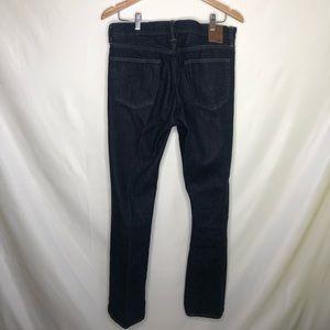 GAP Jeans - GAP men's straight leg dark blue denim size 32x34